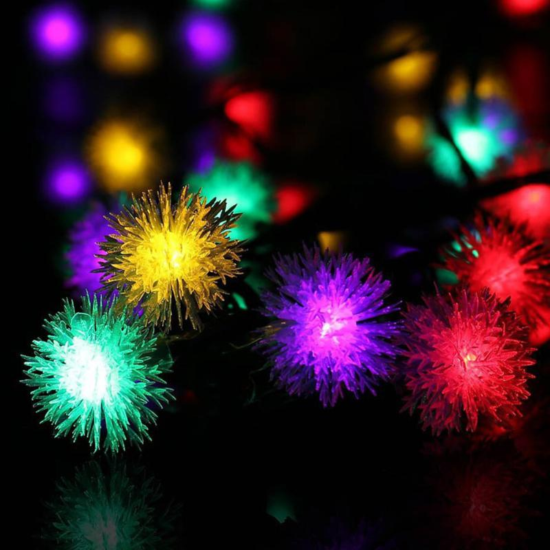 Daisy Solar String Lights: Solar Power Fairy String Lights 6m 30 LED Hair Ball