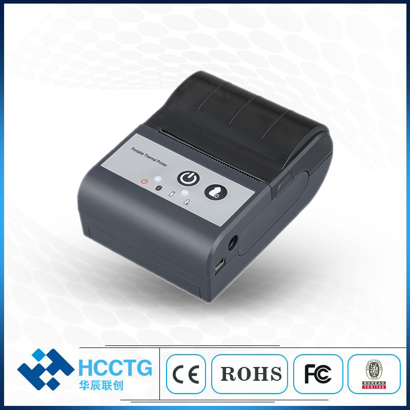 Kleine 5 V 58 MM Bluetooth Drahtlose Rechnung Druckmaschine Handheld Thermische Ticket Drucker HCC-T2P