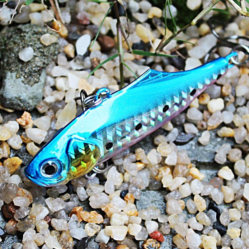 New Arrive 24g 7.5cm VIB rybářské návnady tvrdé návnady zimní led moře rybaření obchod potápění otočné jig wobbler lure dřez
