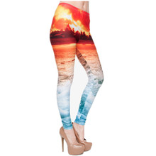 f4d0cf9df75 3D Print Sunset Beach Women Leggings Summer Winter Sexy Leggins Pants  Fitness Legging Punk Rock Calzas Mujer Fashion Jeggings