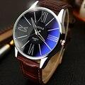 Hombres reloj marca de lujo relojes de cuarzo de Cuero de Moda Casual relojes YAZOLE Caliente reloj masculino Deportes Reloj de Pulsera de Negocios Baratos