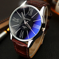 Os homens assistir YAZOLE marca de luxo Quente relógios de quartzo Moda Casual relógios reloj masculino Negócio de Couro Sports Relógio de Pulso Barato