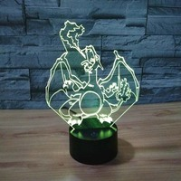 Night light Dinosaur Baby 7 Color Changing Novelty Bright Night Light Led Lighting Cute table Lamps Gifts