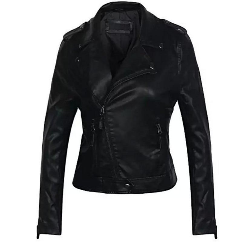 2019 Women Faux   Leather   Jacket Winter Autumn Women Coat Female   Leather   Jacket Zipper Fashion PU   Leather   Jacket Brand Clothing