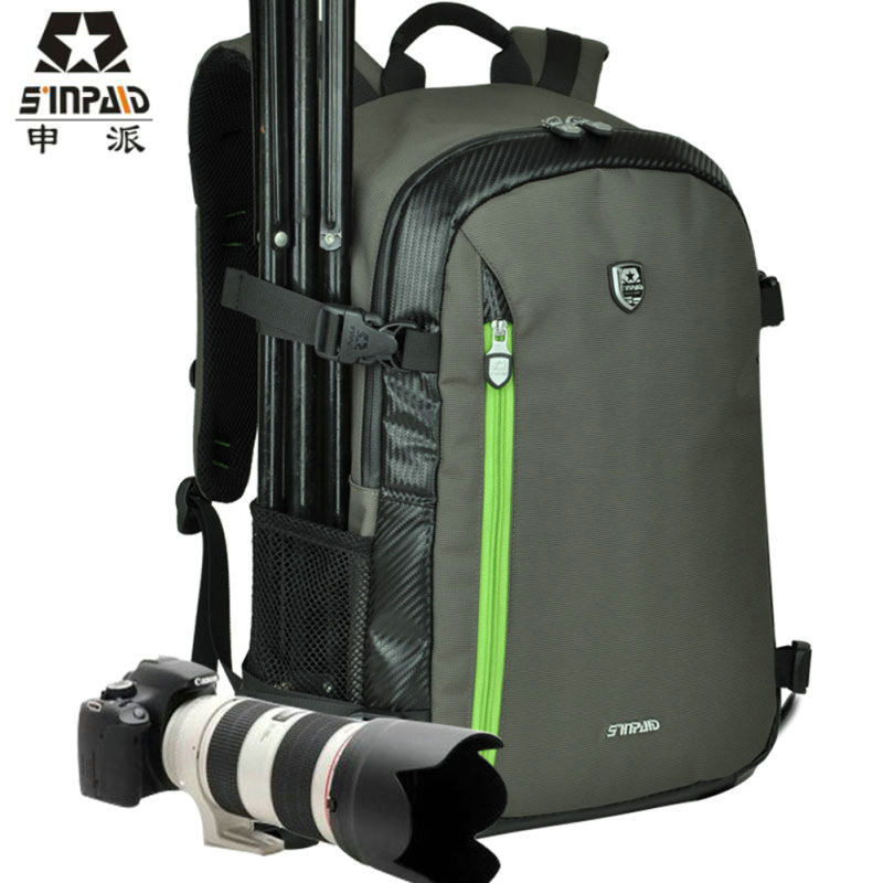 Upgrade Waterproof Digital DSLR Photo Padded Backpack w/ Rain Cover Laotop 15.6 Multi-functional Camera Soft Bag Video Case-FF caden n5 camera backpack video dslr slr case canvas multi functional camera bags with tripod belt rain cover