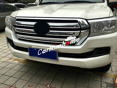 ABS Front Center Grille Grill Cover Trim 2pcs for Toyota Land Cruiser LC200 2016 in Chromium Styling from Automobiles Motorcycles