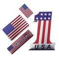 3D металлический сплав США Американский национальный флаг значок флаг США наклейка на мотоцикл украшение