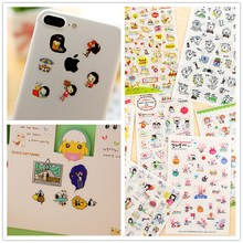 6Sheets/pack Kawaii Memo Stationery Stickers Pack Posted It Planner Scrapbooking Phone Sticker Escolar School Supplies