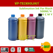 500ML*4 Sublimation ink Suit for Ricoh printer , heat transfer printing ink for GC21 GC31 GC41 etc