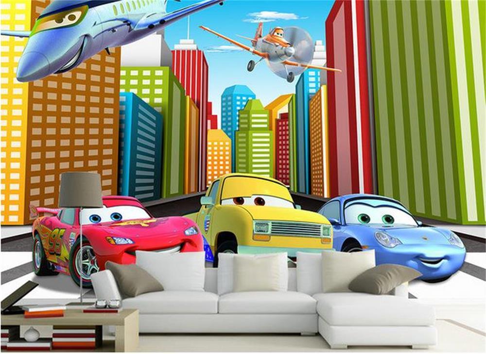 Buy 3d wallpaper custom wallpaper plane for Cartoon mural wallpaper