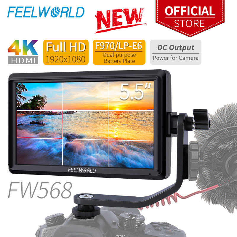 Feelworld FW568 5.5 Inch Camera Veld Dslr Monitor Kleine Full Hd 4K Hdmi 1920X1080 Ips Video Focus assist Voor Sony Nikon Canon
