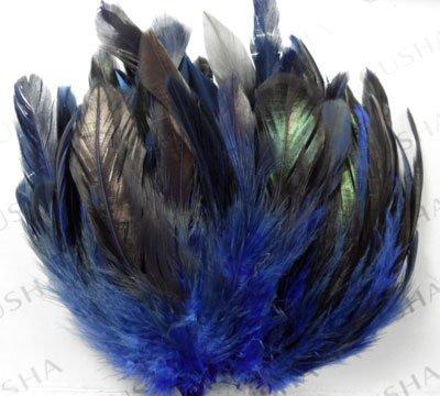 """Лидер продаж 100 шт./лот 6-8 """"Привлекательный Темно-синие цвет барсук седло перья петуха Бесплатная доставка!"""