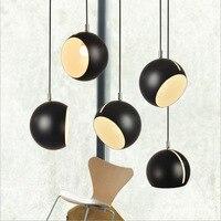 Modern Bedside Rotatable Pendant Light Adjustable Head Nordic Ceiling Hanging Pendant Lamp for Bedroom Dining Room Restaurant