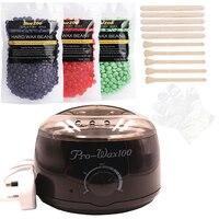 Brazilian Bikini Depilatory Wax Heater Wax Cartridge Hair Removal Cream Home Hair Removal Bean Black Machine