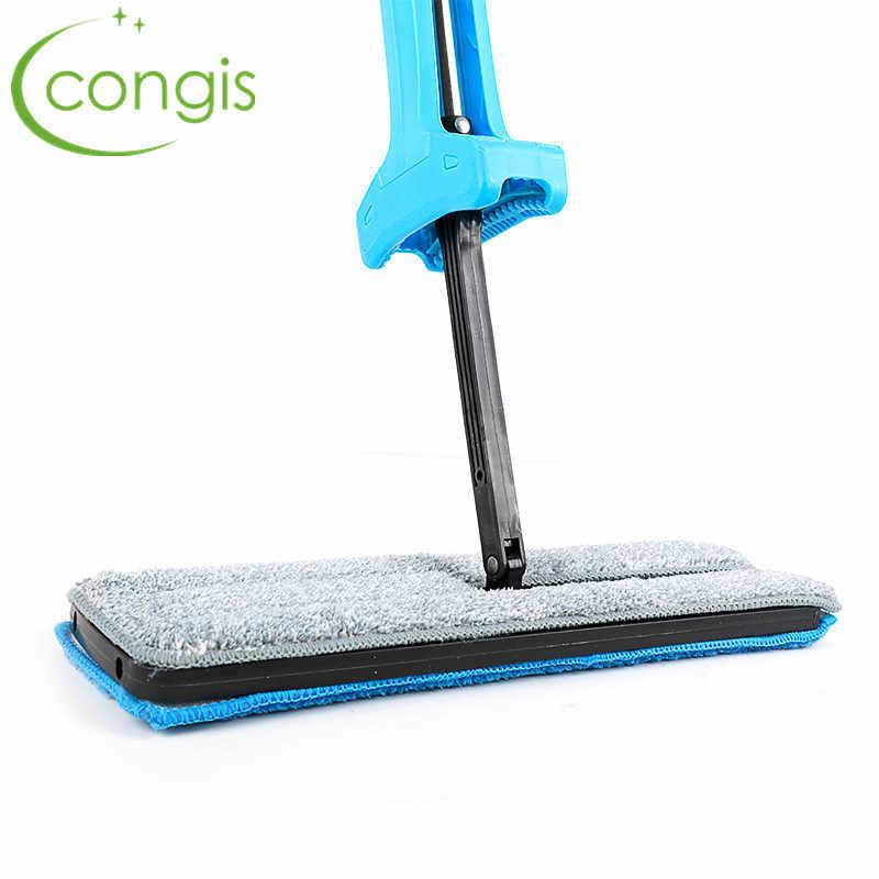 Congis 高品質 360 度スピンモップ床クリーニングスキー手洗浄マイクロファイバー交換布ホームクリーニングツールアクセサリー