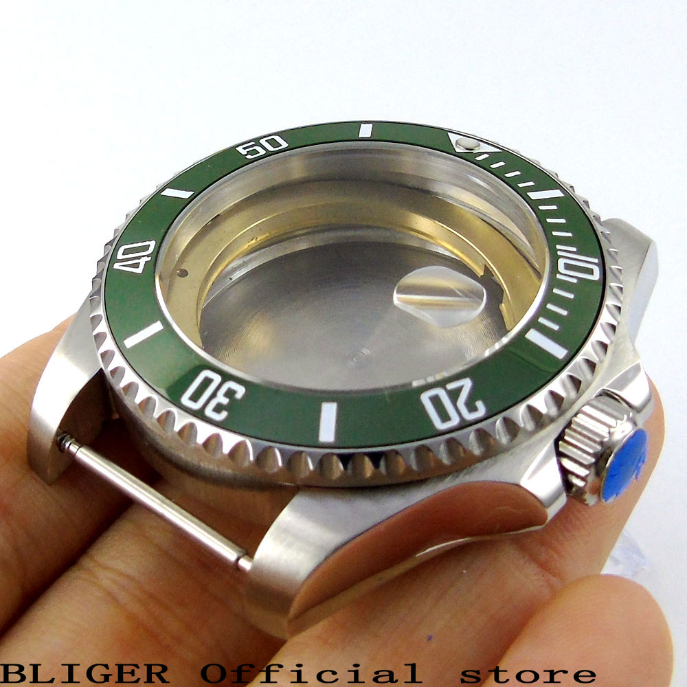 Solid 43mm Stainless Steel Green Ceramic Bezel Sapphire Glass Watch Case Fit For ETA 2824 2836 Automatic Movement C48 new aftermarket airless spray pump repair kit 249123 for paint sprayer gmax ii 7900 free shipping