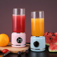Mini Portable Wireless USB Electric Charging Juicer Six leaf Stainless Steel Cutter Head 30s Quick Juice Smoothie Blender
