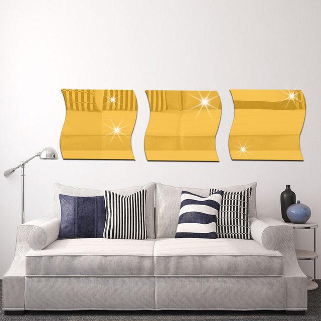Online Shop 1pcs/lot 3D Wallpaper Acrylic Mirror Wall Sticker ...
