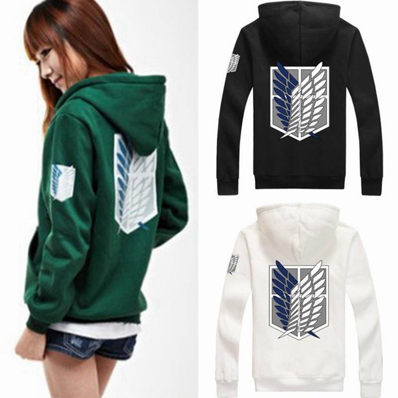 8color Anime Wings Of Liberty Cosplay Costume Attack On Titan Unisex Hoodies Shingeki No Kyojin Legion Zipper Jacket Sweatshirts
