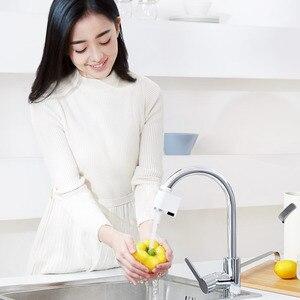 Image 2 - Youpin Zajia אינדוקציה מים שומר אינטליגנטי אינפרא אדום אינדוקציה מים ברז נגד הצפת מסתובב ראש מים חיסכון זרבובית ברז
