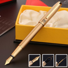 High Quality Luxury Gold Picasso Monaco Malaga select students practice calligraphy Fountain Pen 0.5mm Iraurita ink pen 03834(China)