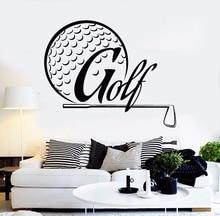 Wall Sticker Golf Player Art Mural Removable Vinyl Design Decal Club Golfer Room Decor AY577