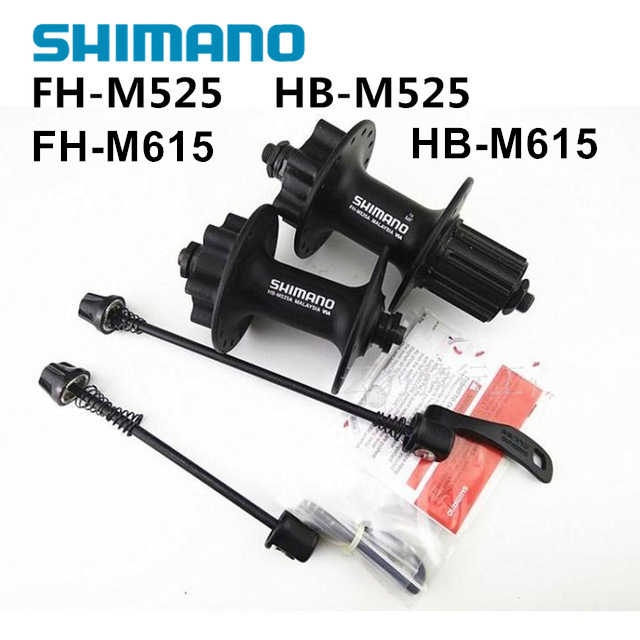 Shimano Deore FH-M525 HB-M525 محاور 32H 36H Deore M615 محاور 32H MTB دراجة محاور 100/135 مللي متر 8S 9S 10S M525 محور