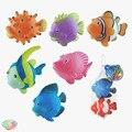 Peixe de plástico modelo de brinquedo pequeno peixe animal dos desenhos animados 6 conjunto
