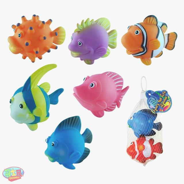 Plastic fish model small fish toy cartoon animal 6 set in for Small plastic fish