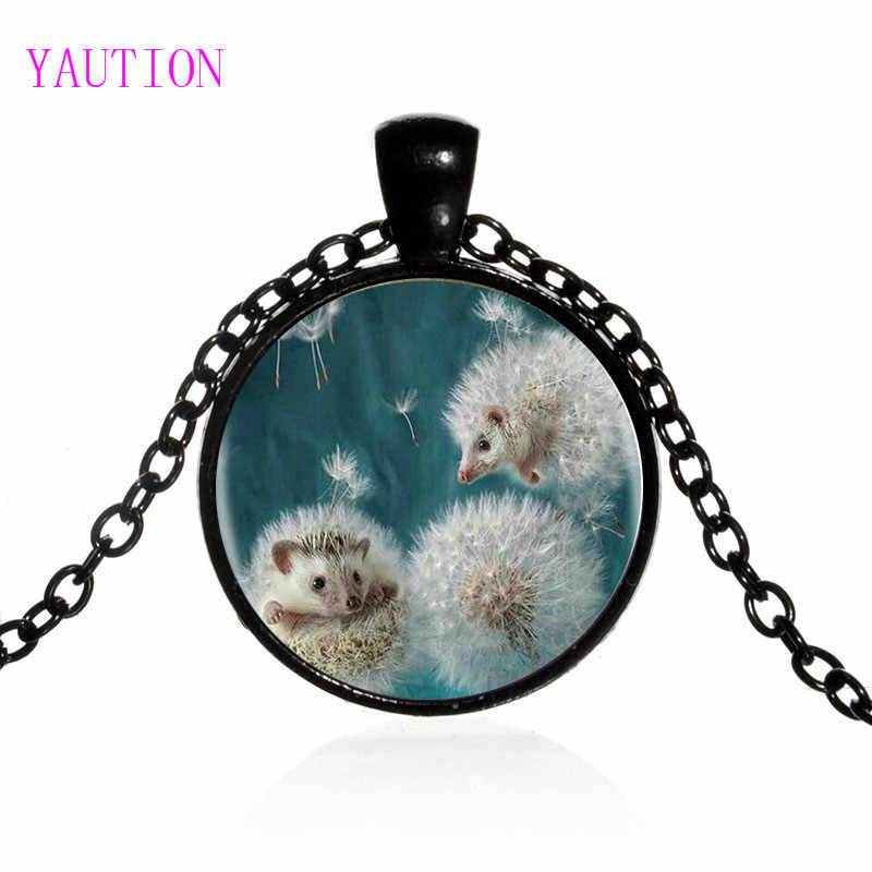 3 Màu Sắc New Dandelion Và Hedgehog Bạc Mặt Dây Chuyền Vòng Cổ Dài Chian Cáo Handmade Vòng Cổ Vintage