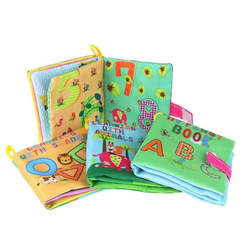 Baby Book Soft New Cloth Baby Intelligence Development Learn Picture Cognize Book Quiet Cloth Book Books For Babies Childrens A1