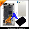 100% Test For Sony Xperia Z1 mini LCD Z1 Compact LCD Display Touch Screen Digitizer Assembly Frame +Back Cover- Black/White