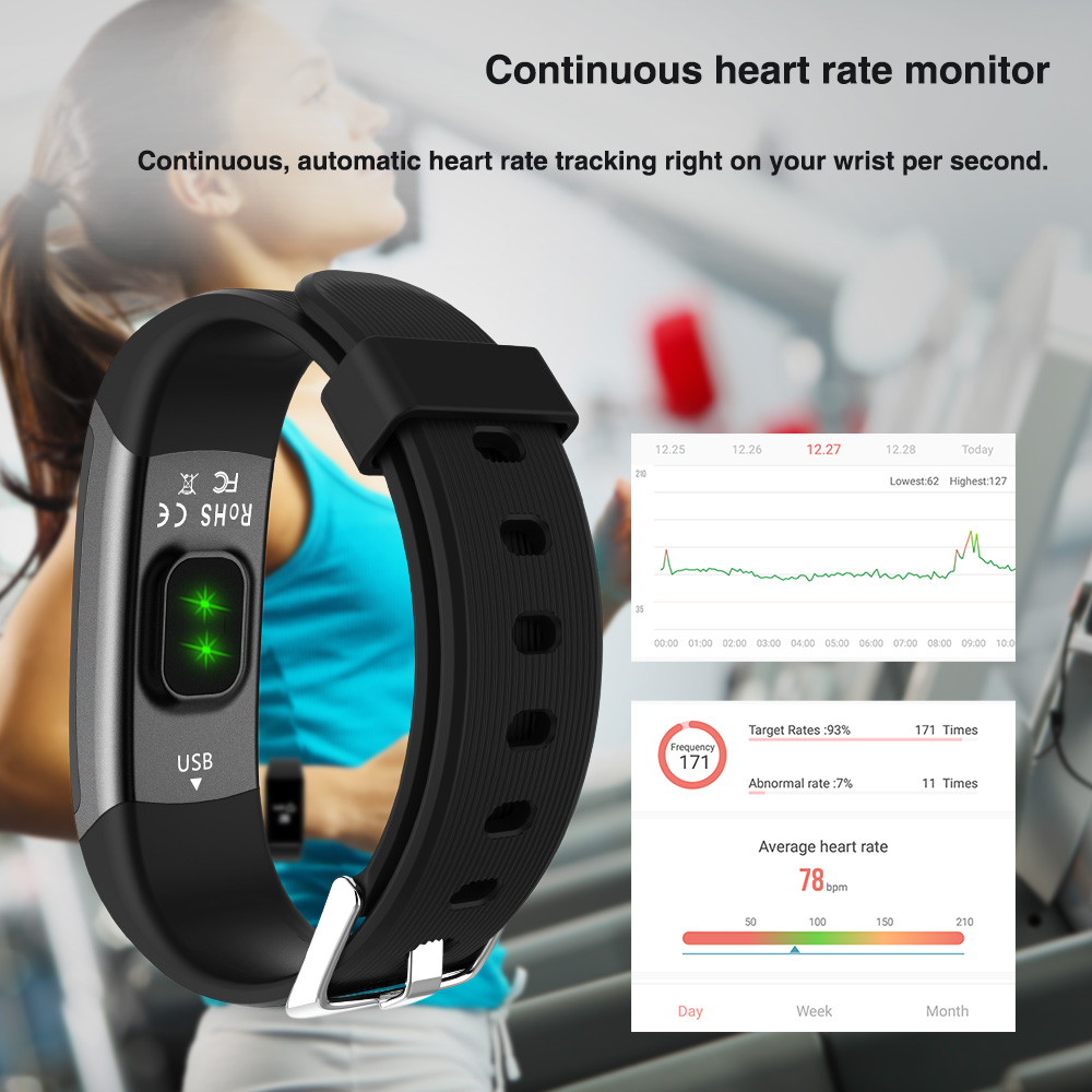 Image 4 - Longet Sport Smart Watch GT101 Waterproof Color Screen Fitness Tracker Heart Rate Monitor Call Reminder Smartwatch Men Women-in Smart Watches from Consumer Electronics