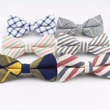 Мужской хлопчатобумажный галстук-бабочка, Свадебный джентльменский бизнес галстук-бабочка, английский галстук в радужную клетку, полосатые галстуки на шею, женские обтягивающие Галстуки