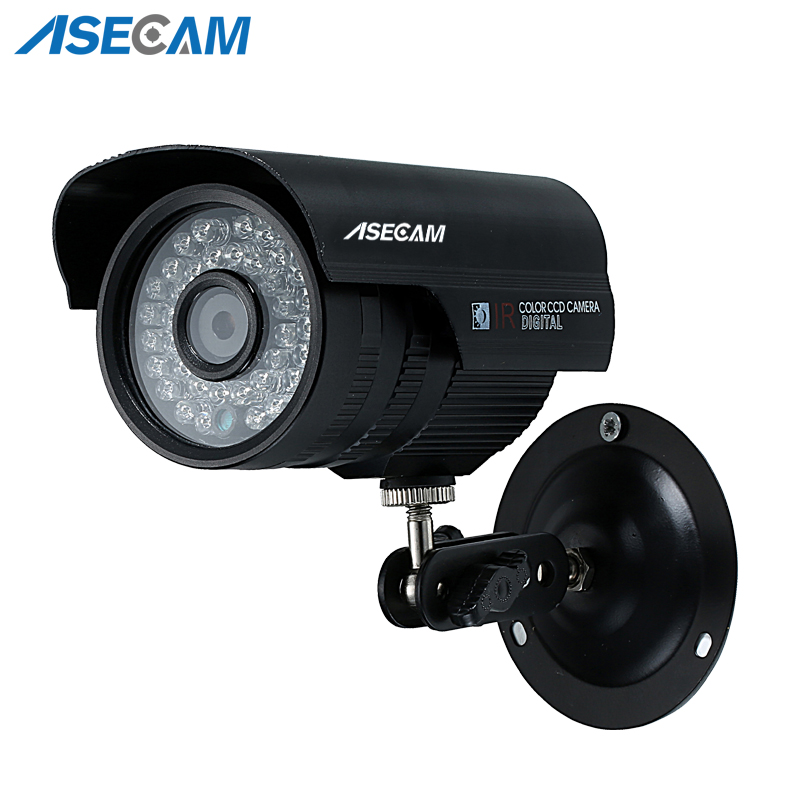 Asecam New Sony CCD 960H Effio 1200TVL CCTV black Bullet Analog Surveillance Outdoor Waterproof 36led infrared Security Camera Asecam New Sony CCD 960H Effio 1200TVL CCTV black Bullet Analog Surveillance Outdoor Waterproof 36led infrared Security Camera