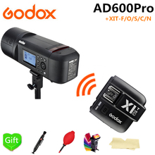 купить Godox AD600Pro TTL Outdoor Li-Battery Flash Strobe Light for Canon Nikon Sony Fujifilm Olympus + X1T-F/O/S/C/N Flash Trigger по цене 68062.1 рублей