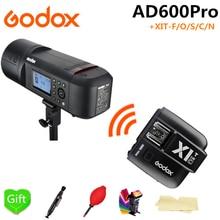 цена Godox AD600Pro TTL Outdoor Li-Battery Flash Strobe Light for Canon Nikon Sony Fujifilm Olympus + X1T-F/O/S/C/N Flash Trigger онлайн в 2017 году