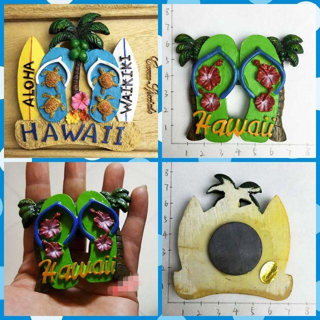 Free shipping 1pc Hawaii Beach Flip Flop ALOHA Fridge