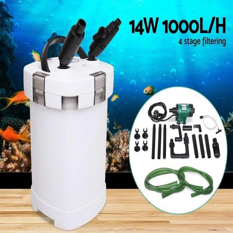 NCFAQUA 14 W 1000L/h SUNSUN HW-504B 4 этап внешний фильтр для аквариума с 5 W УФ стерилизатор для Aqua аквариум до 250L