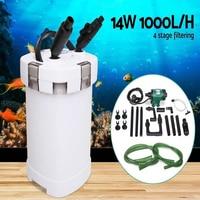 NCFAQUA 14W 1000L/h SUNSUN HW 504B 4 Stage External Aquarium Canister Filter with 5W UV Sterilizer for Aqua Fish Tank Up to 250L