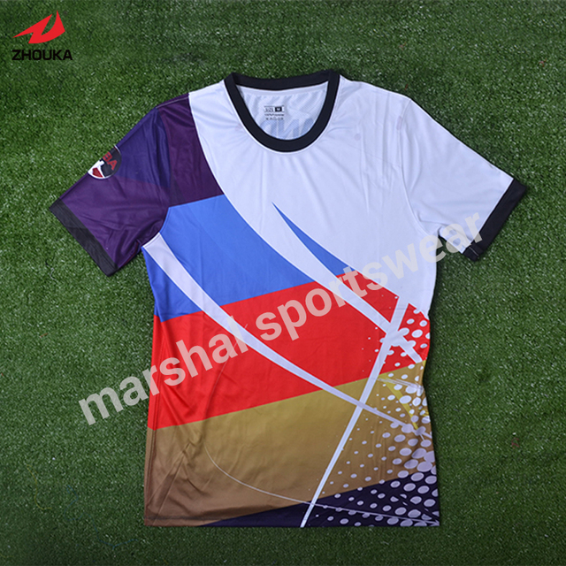 77ae0f861 Custom your own logo design palyer s name and number sublimation print  men s football team jersey personality customization