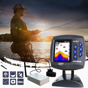 Image 1 - Lucky Remote Control Fish Finder Echo sounder FF918 CWLS Color Wireless Sensor for Fishing 300m/980ft Operating Fishfinder #C5
