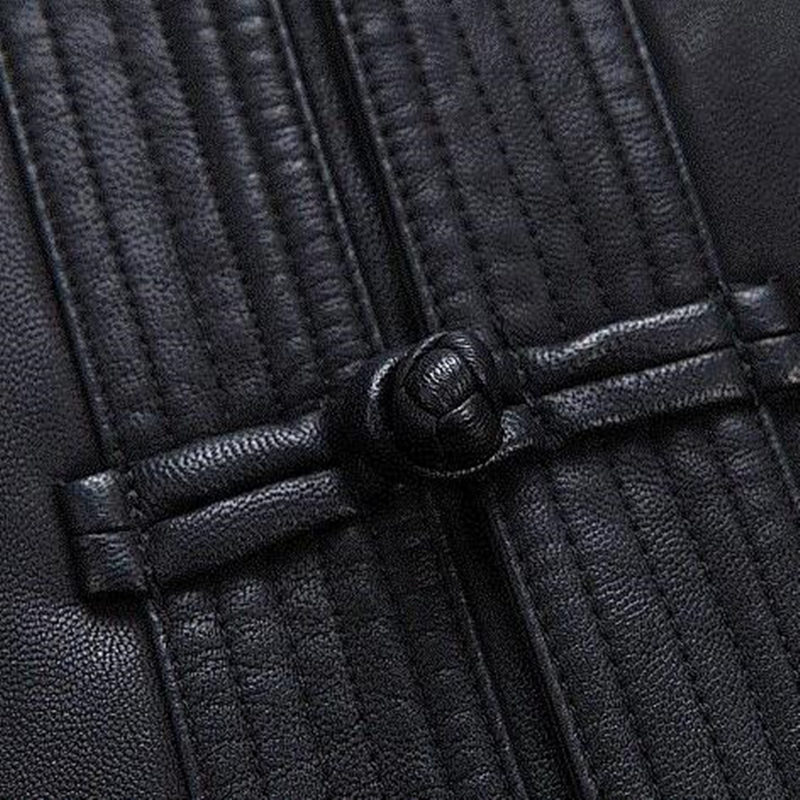 Uomini Cappotto di Pelle di Abbigliamento di Stile cinese degli uomini Del Ricamo Allentato Cappotti XXXL vestito di Linguetta Cineserie Giubbotti Tuta Sportiva - 5
