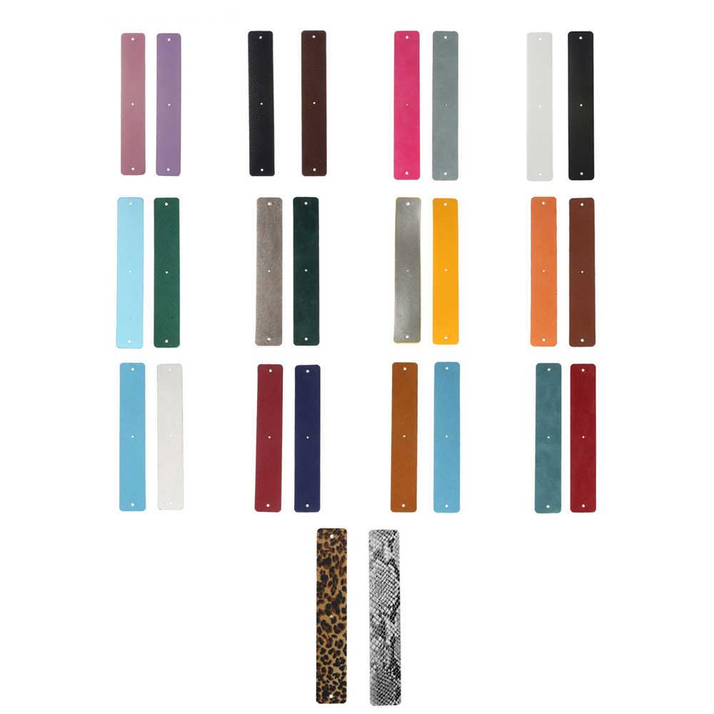 Legenstar correa de cuero Reversible Acero inoxidable accesorio de cuero DIY joyería colores personalizados mujeres Handmake brazalete