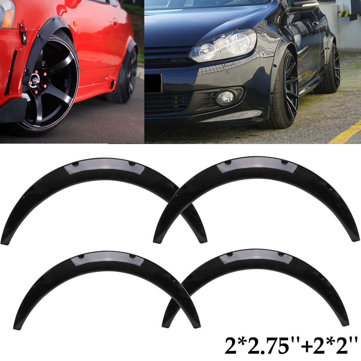 Universal Flexible Car Body For Fender Flares Extension Wide Wheel Arches For Mazda/Nissan Miata 200SX 240SX 300ZX 1980-2015