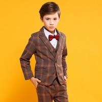 Spring Flower Boy Piano Wedding Party Birthday Costumes Children's Tuxedo Dress Suits Set Kids Blazer H537