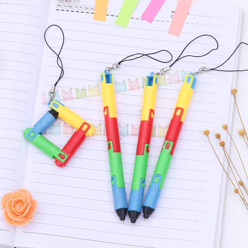 TOMTOSH Foldable Ballpoint Pen Stitch Pen Wholesale Bend Pen Creative Student Prize Item Pen 6