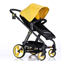 Baby Stroller 2 In 1 Newborn Infant Sleeping Basket Baby Safety Trolley Seat Baby Carriage Easy Folding Pram