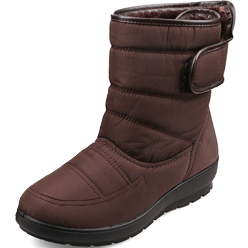 ФОТО 2016 Women Snow Boots Warm Waterproof Ankle Boots Casual Women Platform Flats Shoes Fashion Women Winter Boots Mother Shoes 9d59
