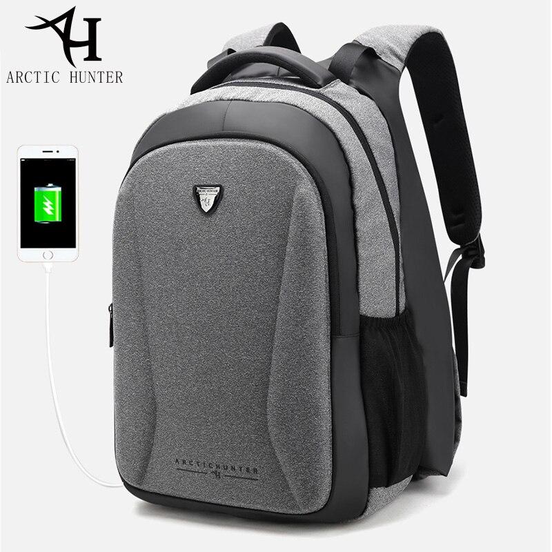 Arctique HUNTER USB sac à dos chaud homme d'affaires voyage 15.6 sac à dos pour ordinateur portable hommes décontracté grand sac à dos sac 2018 nouveau Design